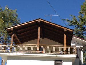 Tettoia su veranda