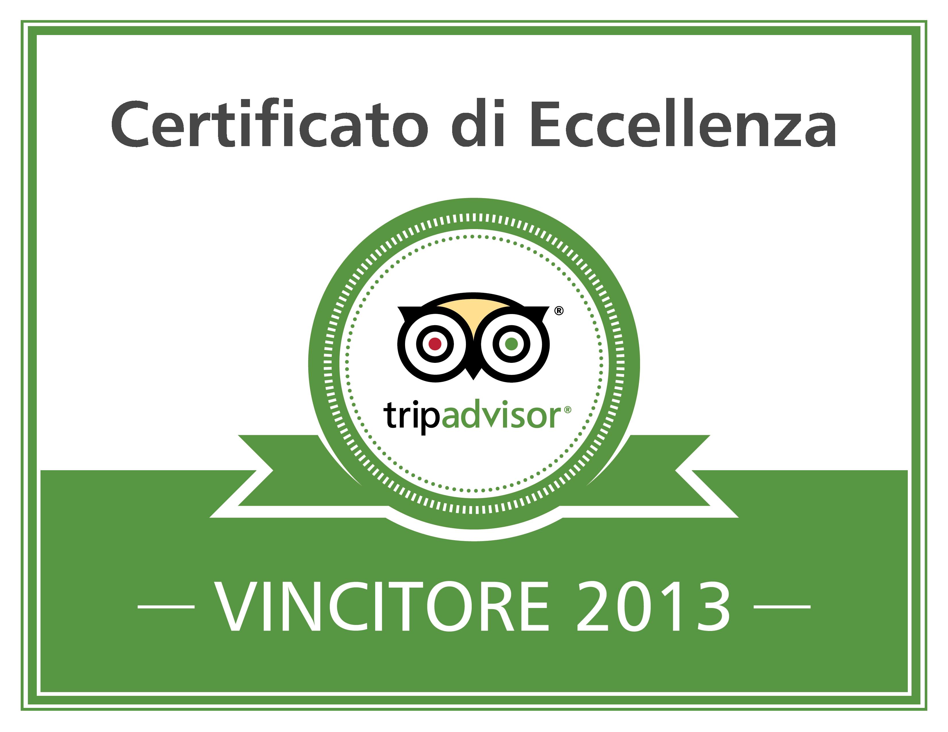 Cerificato Eccellenza 2013