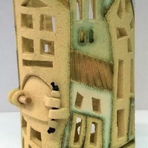 opera in ceramica cm. 21x11 Ø