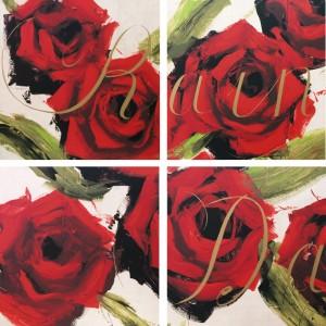 cartella di 4 serigrafie cm. 59x59 - composte cm. 120x120