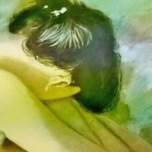 Litografia su foglio cm. 40x70