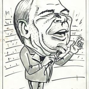 Virgì - Frank Sinatra - disegno su carta cm. 30x20