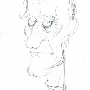 Virgì - Indro Montanelli - disegno su carta cm. 20x15