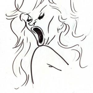 Virgì - Milva - disegno su carta cm. 20x15
