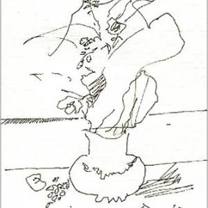 disegno su carta cm. 17,5 x 12,2