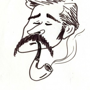Virgì - Lech Walesa - disegno su carta cm. 20x15