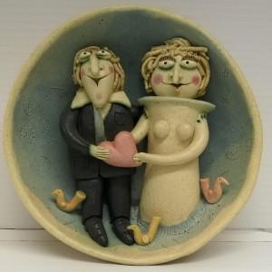 opera in ceramica cm. Ø20x8