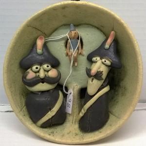 opera in ceramica cm. Ø13x5