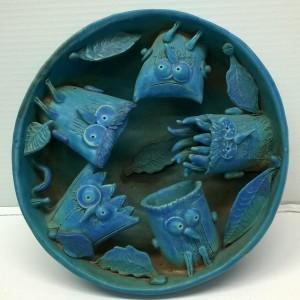 opera in ceramica cm. Ø 24x10