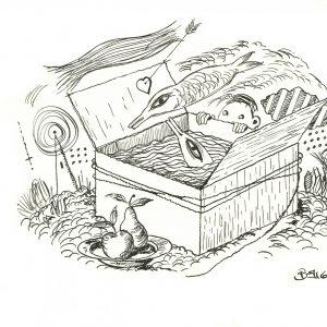 disegno a china cm. 14x19