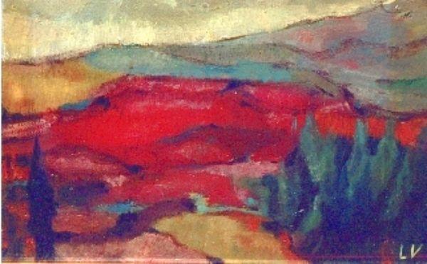 olio su cartone telato cm. 35x55