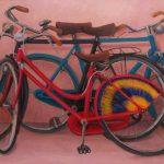 Cristallini, le biciclette, olio su tela cm. 70x100
