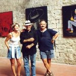 Gubbio, Rita e Bruno alla personale del 1998