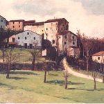Blarasin - Picolo borgo di collina - olio su tela cm. 50x70
