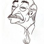 Virgì, Giorgio Almirante, disegno su carta cm. 20x15
