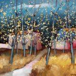 Cristallini - serata di primavera, tempera su cartoncino cm. 40x50
