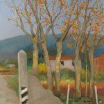 Cristallini -Arriva l'autunno, tempera su cartoncino cm. 70x50