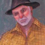 Cristallini - il contadino, tempera su cartoncino cm. 40x30