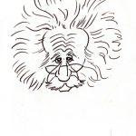 Virgì, Einstein - disegno su carta cm. 20x15