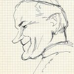 Virgì Papa Giovanni Paolo II - disegno su carta cm. 20x15