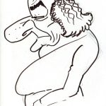 Virgì, Golda Meir - disegno su carta cm. 20x15