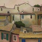 Cristallini - i tetti, tempera su cartoncino cm. 50x70