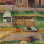 Cristallini - l'orto del convento, tempera su cartoncino cm. 70x50