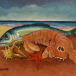 Cristallini, natura marina, olio su cartone telato cm. 18x24