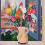 Cristallini, dallo studio dell'artista, olio su tela cm. 60x50