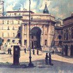 Massetani - Piazza Nazario Sauro, Arena Sferisterio, 1953 - acquarello su carta cm. 35x37