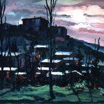 Massetani - notturno, 1965 - olio su cartoncino cm. 50x70
