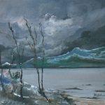 Massetani - paesaggio invernale, 1971 - olio su cartoncino cm. 50x60