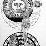 Trubbiani - idea per croce capitolare-disegno per la croce capitolare, Cattedrale di Foligno, 1991 - pag. 25