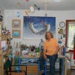 Braido Silvano nel suo studio