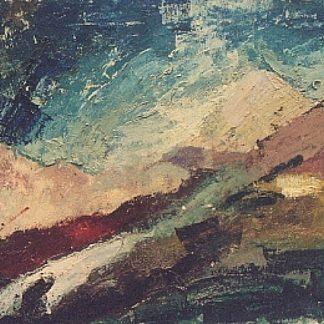 Cicconi Franco - Paesaggio montano - olio su faesite cm. 41x55,5