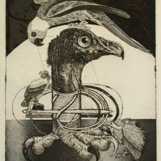 Trubbiani Valeriano, Ordire la trama 1990- incisione su foglio cm. 70x50 es. n° II/XX