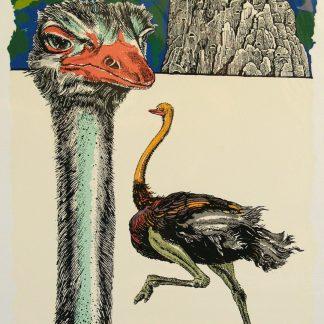Trubbiani Valeriano, Paesaggio della Marca Picena 2005 - serigrafia su foglio cm. 70x50 es. n° XIV/XVIII