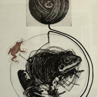 Trubbiani Valeriano, Ordire la trama 1976 - incisione su foglio cm. 70x50