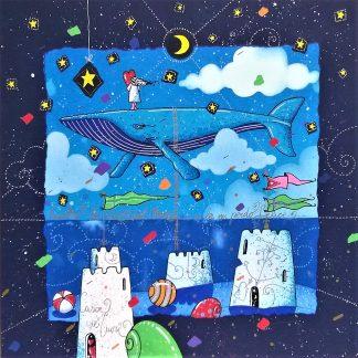 Agostini Andrea, Ascolto la voce del mare e in lei mi perdo felice - serigrafia su foglio cm. 40x40 - tiratura 250 esemplari