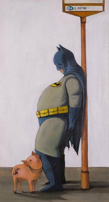 Pareschi, Batman - stampa su tela cm. 150x100 completa di telaio
