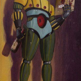 Pareschi, Jeeg Robot - stampa su tela cm. 150x80 completa di telaio