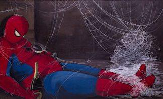 Pareschi, Spiderman - stampa su tela cm. 100x150 completa di telaio