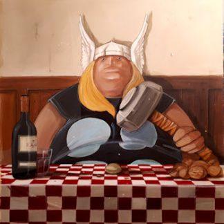 Pareschi, Thor - stampa su tela cm. 70x70 completa di telaio