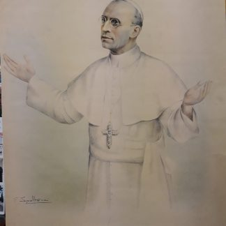 Spoltore, stampa cm. 53x42 del ritratto di papa Pio XII, realizzato nel 1947, fu usato come ritratto ufficiale nell'Anno santo del 1950.