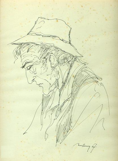 Bellagamba Mario, Anziano 1967 - disegno originale su carta cm. 27x21