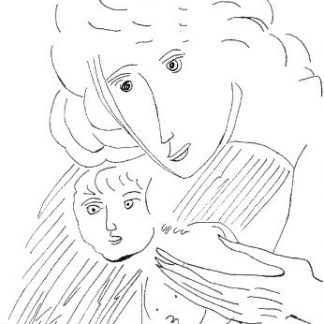 Brindisi - Maternità, china su carta cm. 32x21