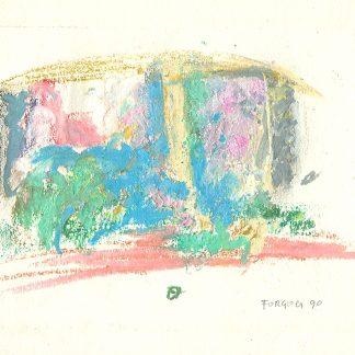 Forgioli Attilio, Natività 1990 - pastelli a cera, opera originale cm. 22x29