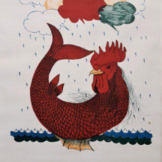 Margonari, Non piove più come una volta, 1967 prova d'autore cm. 50x35
