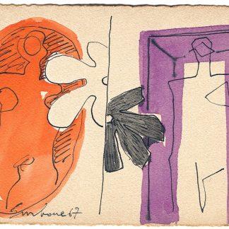 Surbone Mario, Forme 1967 - acquarello su carta cm. 10x15