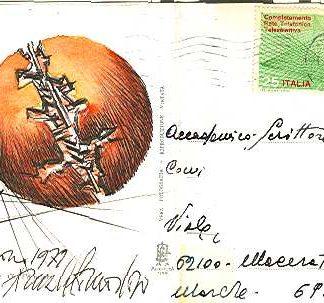 Pomodoro, Cartolina di auguri - cm. 10x14,5